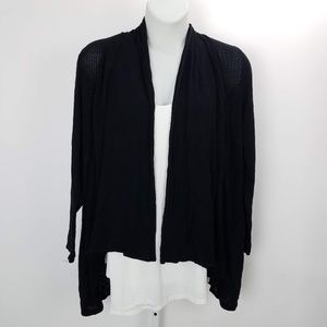 Style & Co Open Front Sheer Cardigan Sz 2X Black